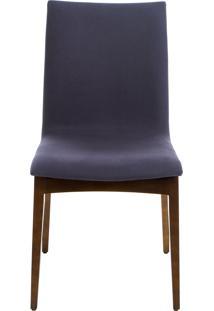 Cadeira Fidalga - Base Amãªndoa E Tecido Azul