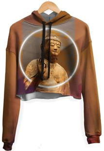 Blusa Cropped Moletom Feminina Over Fame Buda Md01 - Marrom - Feminino - Poliã©Ster - Dafiti