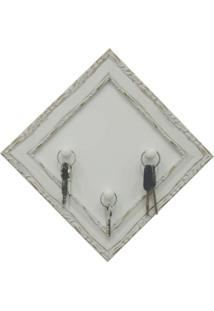 Porta Chave Blanc 20X20Cm Branco Kapos