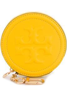 Tory Burch Carteira Com Logo Fleming Gravado - Amarelo