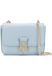 Furla Logo Clasp Shoulder Bag - Azul