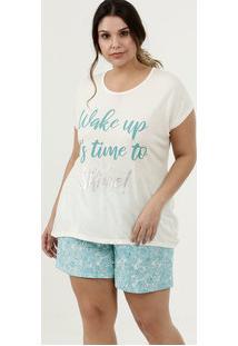 Pijama Feminino Estampa Frontal Plus Size Marisa
