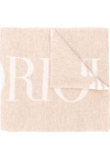 Emporio Armani Echarpe Com Estampa De Logo - Neutro
