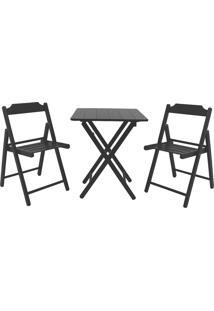 Jogo Mesa E 2 Cadeiras Tramontina Beer 10630077 Dobrável Tabaco
