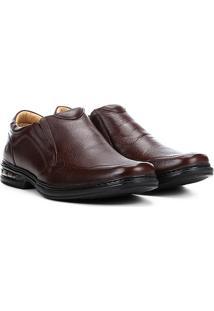Sapato Social Couro Rafarillo Amortecimento Sem Cadarço Masculino - Masculino-Marrom