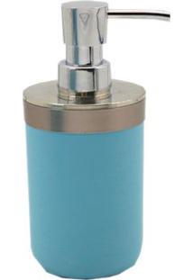 Porta Sabonete Líquido De Bancada Em Plástico Azul Aquamarine Coisas E Coisinhas