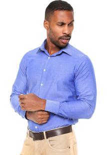 Camisa Aleatory Slim Fit Azul