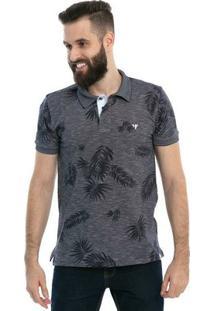 Camisa Polo D'Affari Estampada Full Print Masculina - Masculino