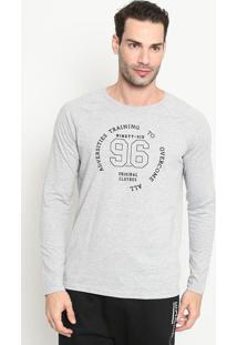 """Camiseta Maquinetada """"96""""- Cinza & Pretarezzato"""