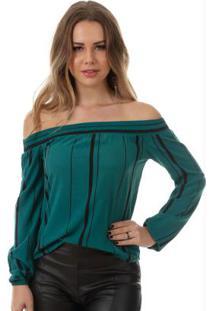 Blusa Ciganinha Verde