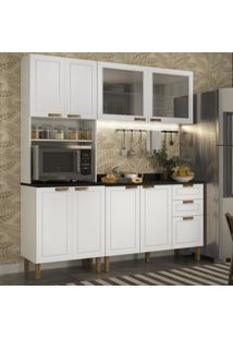 Cozinha Completa 4 Peã§As Americana Multimã³Veis 5904 Branco - Branco/Incolor - Dafiti