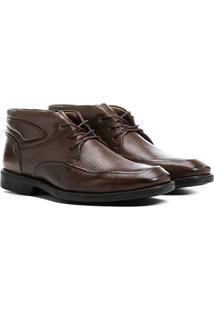 Bota Couro Cano Curto Shoestock Floater Masculino