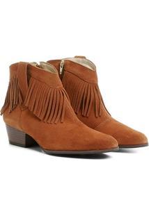 303f5f20fc Bota Couro Country Shoestock Franja Feminina - Feminino