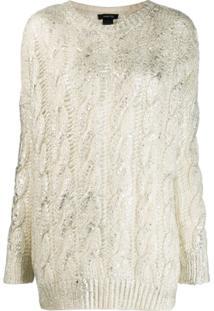 Avant Toi Cashmere Cable-Knit Sweater - Branco