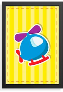Quadro Love Decor Decorativo Infantil Helicopter Baby