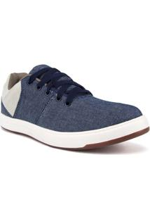 Tênis Masculino Tecido Jeans Azul