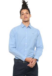 Camisa Colcci Logo Azul