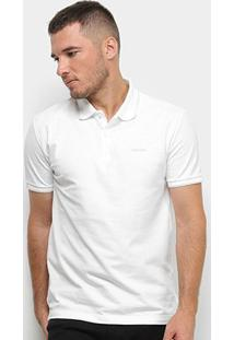 Camisa Polo Calvin Klein Lisa Masculina - Masculino-Branco