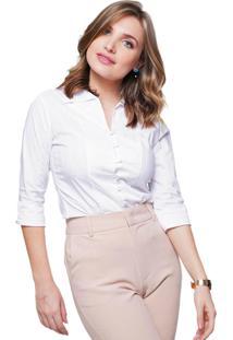 Camisa Sob Feminina Branca Lisa Sob Com Textura Listrada Algodão