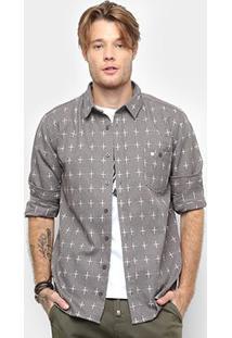 Camisa Cavalera Manga Longa Estampa Cruz Masculina - Masculino