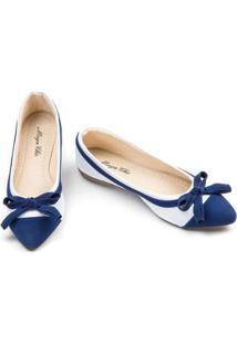 Sapatilha Megachic Feminina - Feminino-Branco+Azul