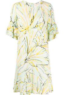 Dvf Diane Von Furstenberg Vestido Floral - Verde