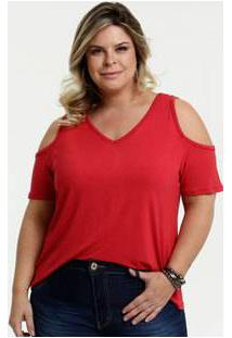 Blusa Feminina Open Shoulder Plus Size Marisa