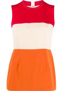 Marni Blusa Color Block - Neutro