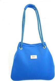 Bolsa Banana Rosa Saco Neoprene Cordas Arara Feminina - Feminino-Azul