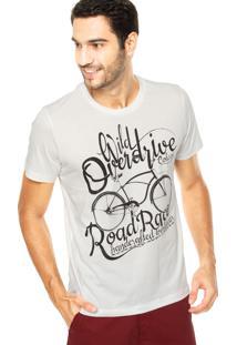 Camiseta Colcci Road Race Off-White