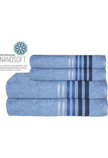 Toalha De Banho Dynamo- Azul Claro & Azul Escuro- 70Camesa