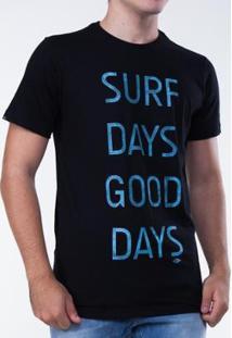 Camiseta Mormaii Surf Days Masculina - Masculino-Preto