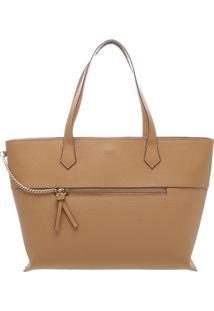 Bolsa Texturizada Com Corrente- Bege & Dourada- 27X3Arezzo & Co.