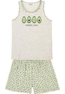 dc7b614894e3dd Pijama Feminino Em Algodão Com Shorts Estampado Em Outros Tamanhos