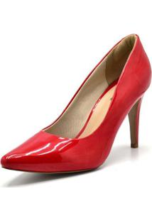 Scarpin Dududias10 Verniz - Feminino-Vermelho