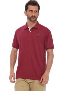 Camisa Polo New York Polo Club Slim - Masculino-Vinho
