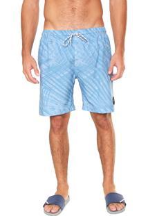 Bermuda Água Oakley Quadrada O-Palm Azul