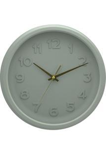 Relógio Parede Pu Bold Numbers Cinza