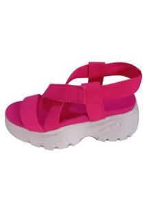 Sandália Vesture Tratorada Flatform Pink