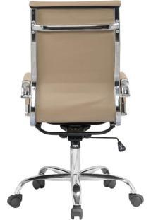 Cadeira Presidente Giratória Estofada Com Rodízios Manhattan Fratini Móveis Fendi