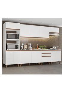 Cozinha Completa Madesa Reims 320002 Com Armário E Balcáo - Branco Branco