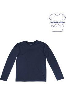 Camiseta Masculina Básica Na Modelagem World