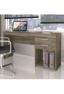 Mesa Para Computador 2 Gavetas Office Canela - Notavel