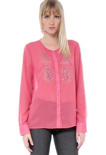 Camisa Energia Fashion Com Termocolantes Rosa