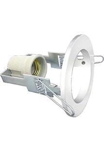 Spot Embutir Aco Redondo D-8Cm Lamp. E-27 - Branco