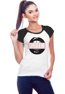 Camiseta Feminina Raglan Queen