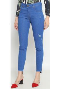 Jeans Marisa Cigarrete Com PuãDos- Azul- Forumforum