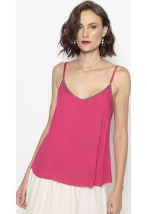 Blusa Com Recortes Vazados- Pink- Shirley Dantasshirley Dantas