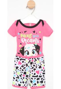 "Pijama ""Paint Your Dreams""- Pink & Brancopuket"