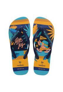 Sandálias Havaianas Top New Era Azul Marinho